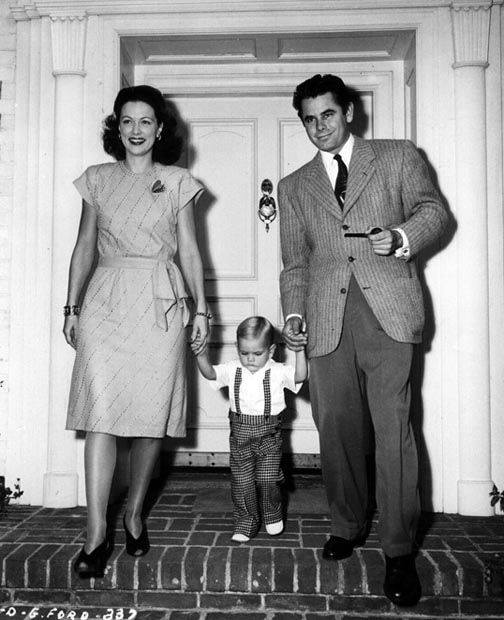 Eleanor Powell, Glenn Ford, and their son, Peter Ford.