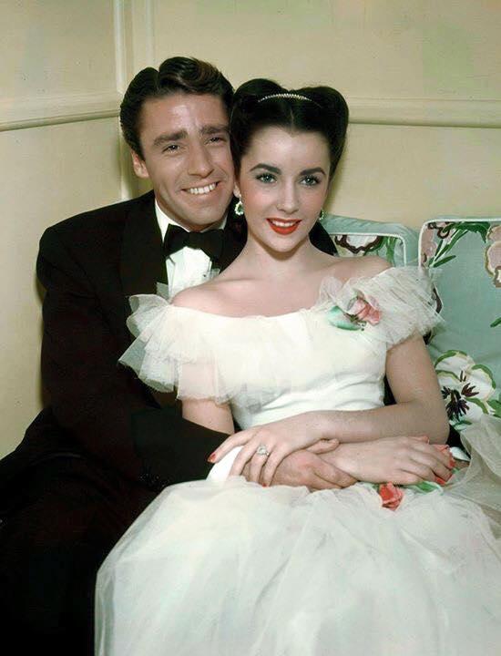 Peter Lawford and Elizabeth Taylor