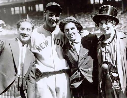 Marx Brothers with Lou Gehrig.