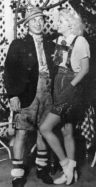 Harpo Marx and Jean Harlow