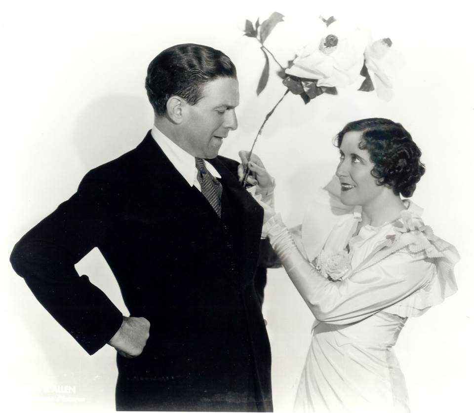 Husband and wife comedy team, George Burns and our birthday girl, Gracie Allen.