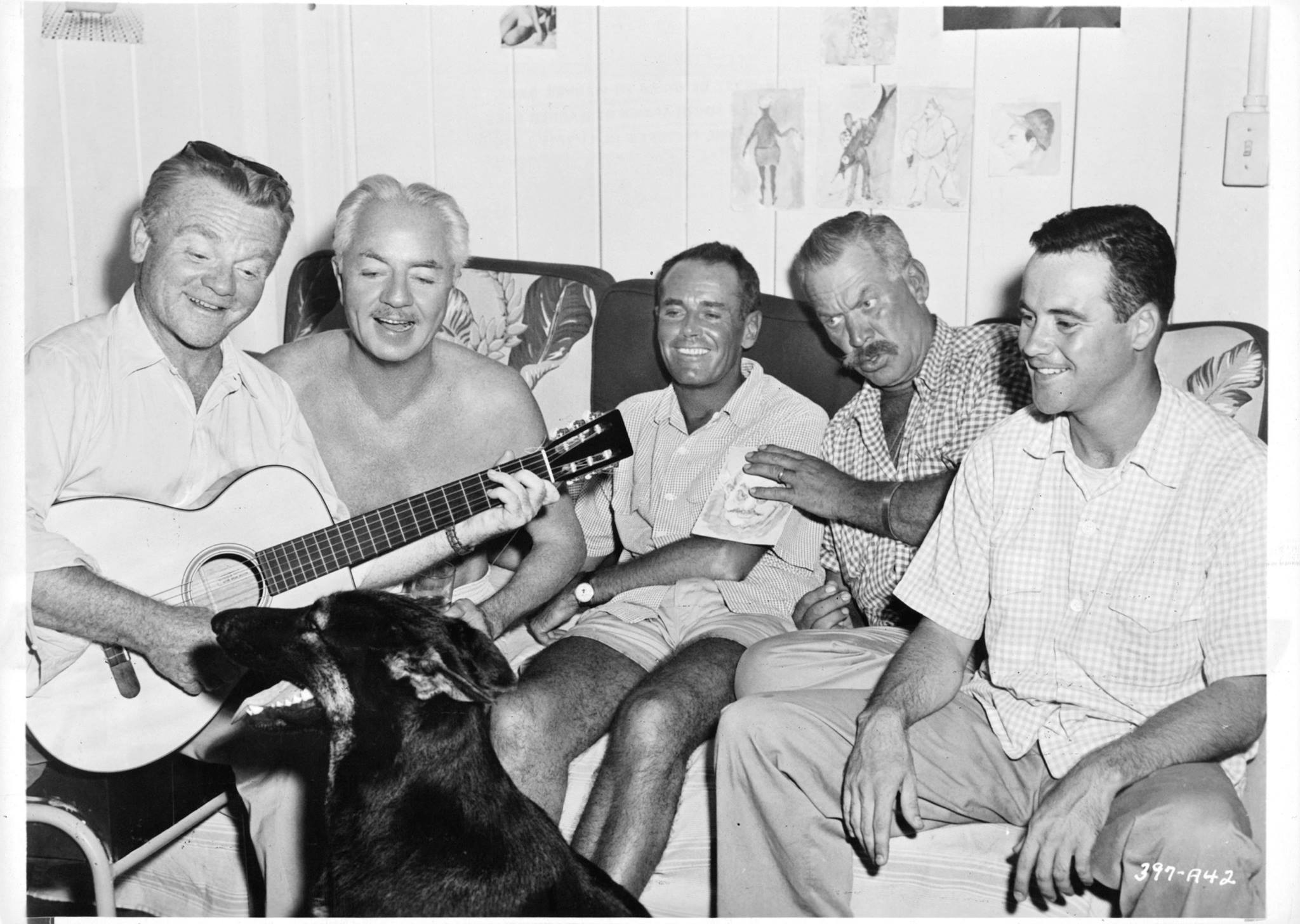James Cagney, William Powell, Henry Fonda, Ward Bond and Jack Lemmon