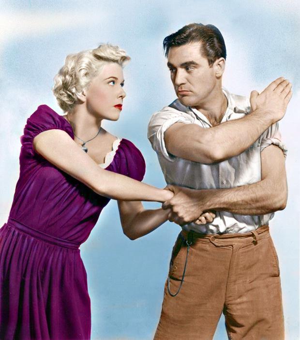 Doris Day and Steve Cochran