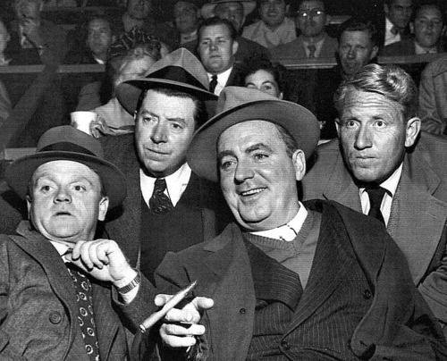 James Cagney, Frank HcHugh, Pat O'Brien and Spencer Tracy