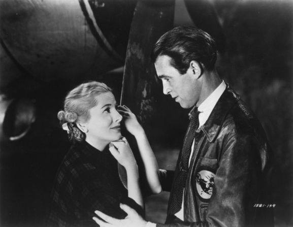Joan Fontaine with Jimmy Stewart