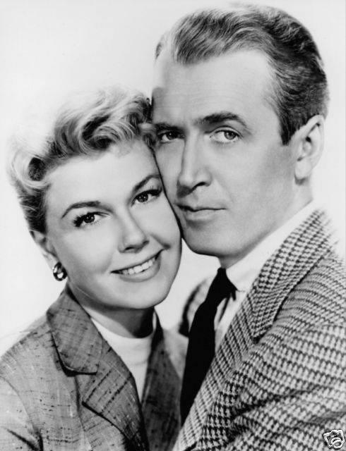 Doris Day and Jimmy Stewart,