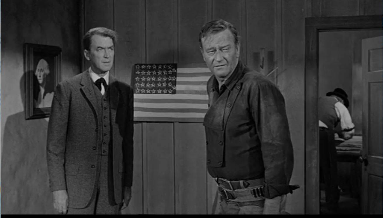 Jimmy Stewart with John Wayne