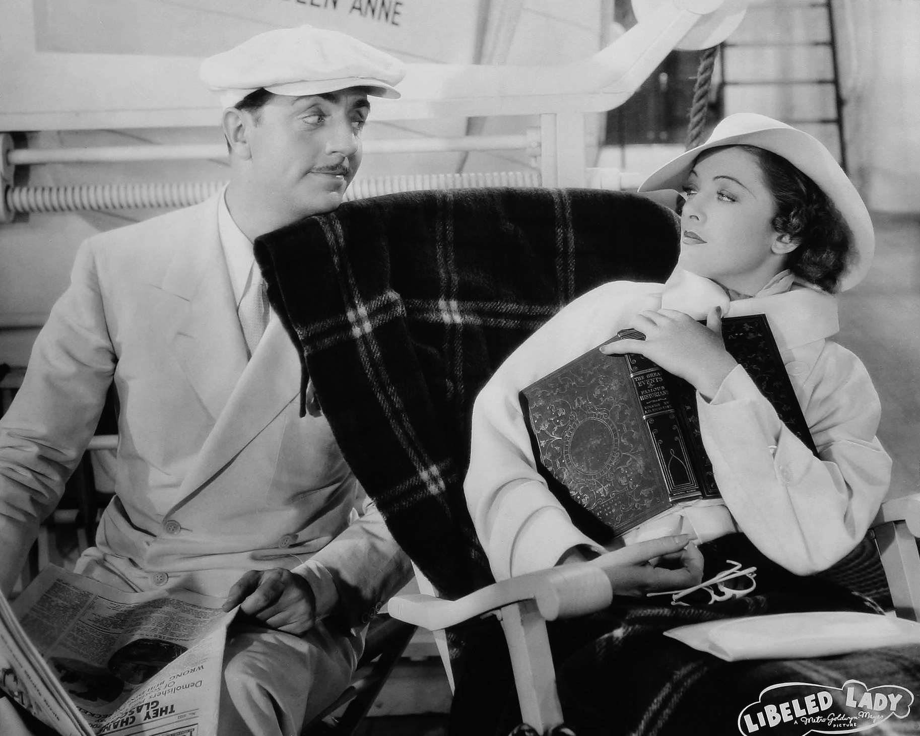 William Powell in Libeled Lady With Myrna Loy