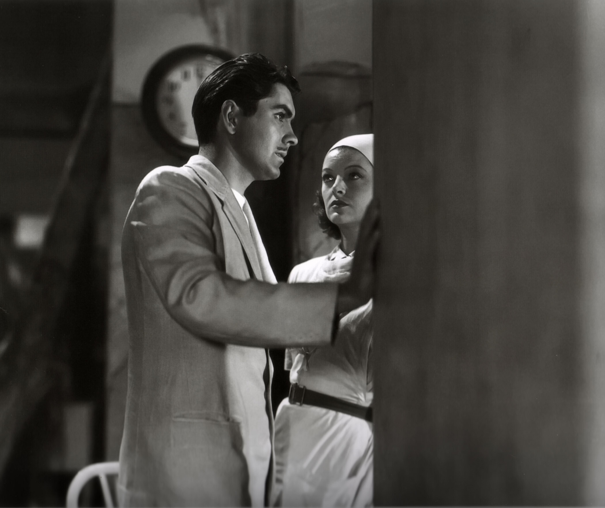 Tyrone Power, Jr. in The Rains Came With Myrna Loy