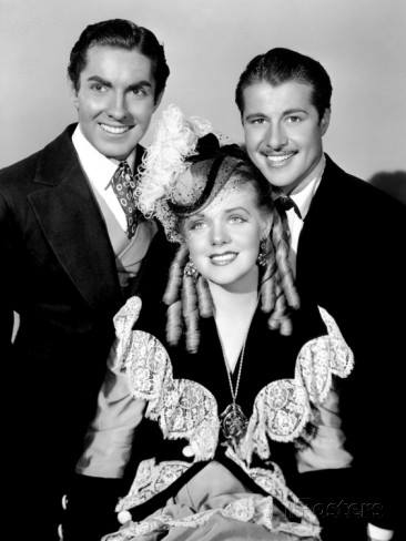 From In Old Chicago (1937); Tyrone Power, Alice Faye and Don Ameche