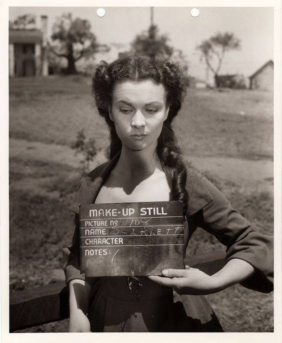 Vivien Leigh doing a make-up test for Gone With The Wind