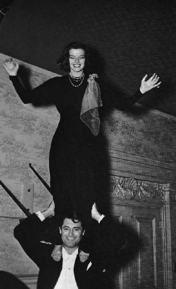 Katherine Hepburn and Cary Grant