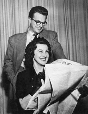 Arlene Francis, Bill Cullen and a newspaper