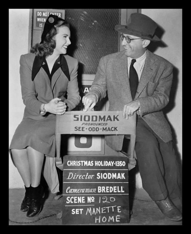 Deanna Durbin and Robert Siodmak