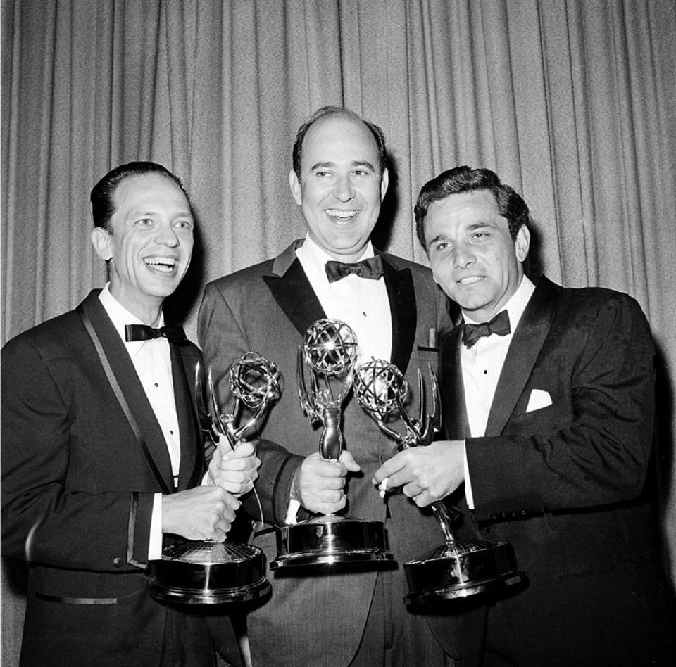 Don Knotts, Carl Reiner and Peter Falk