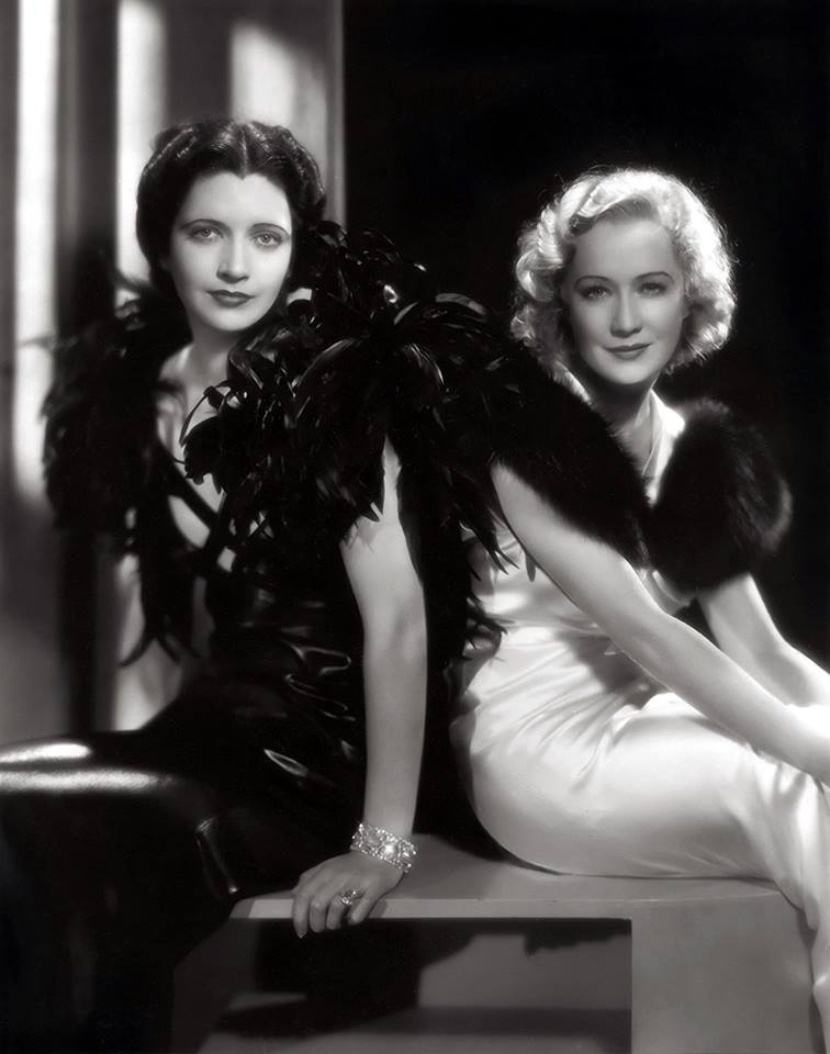 Kay Francis and Miriam Hopkins