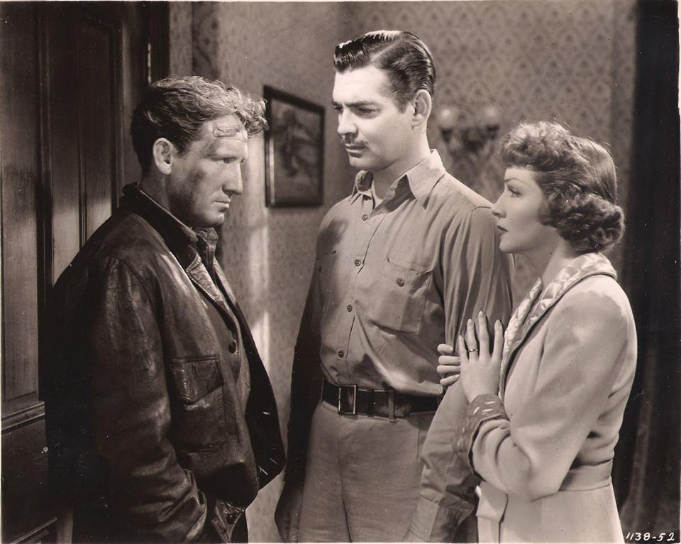 Spencer Tracy, Clark Gable & Claudette Colbert - Boom Town, 1940