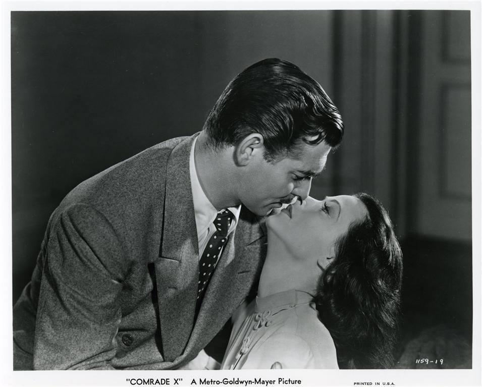 Clark Gable & Hedy Lamarr - Comrade X, 1940