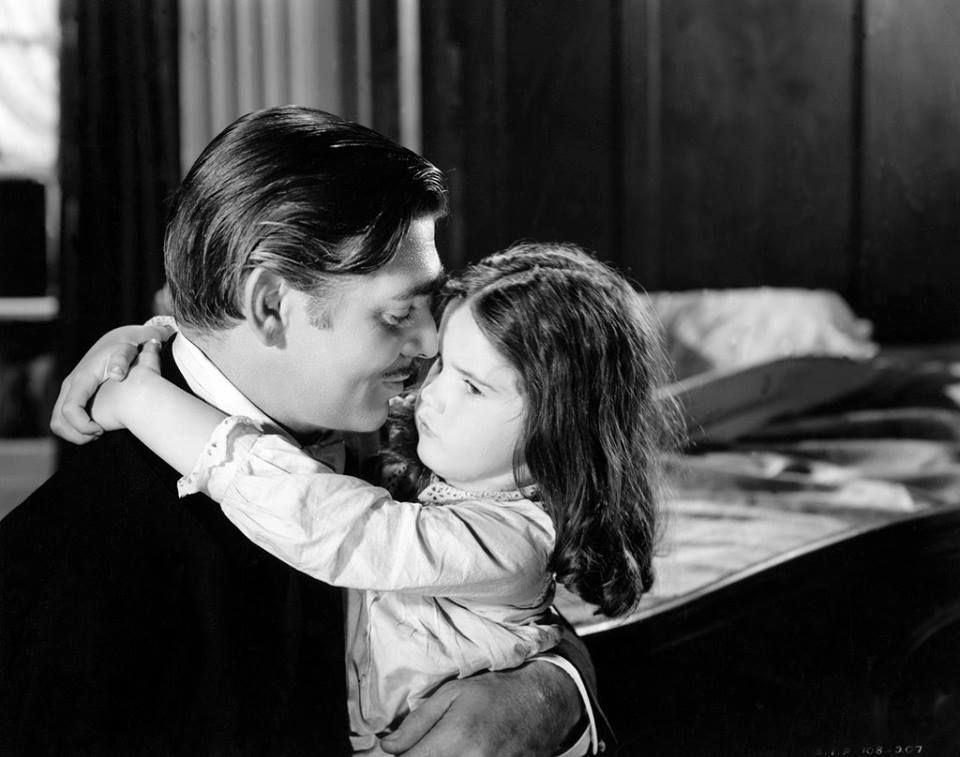 Clark Gable & Cammie King - Gone With The Wind, 1939