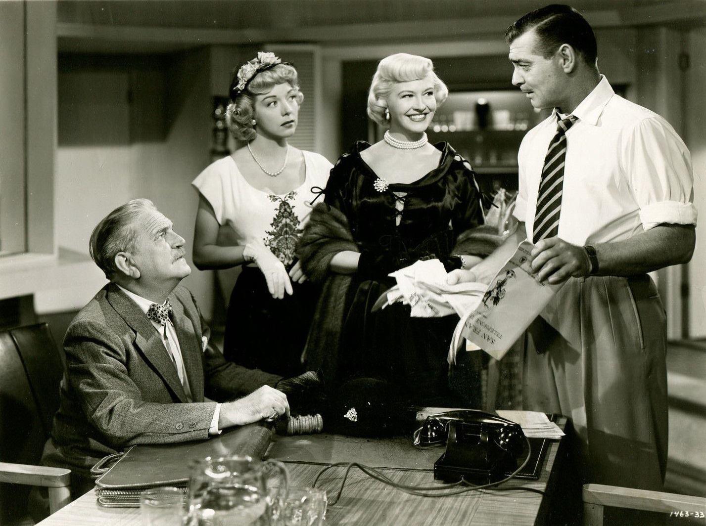 Frank Morgan, Pamela Britton, Marilyn Maxwell & Clark Gable - Key To The City, 1950