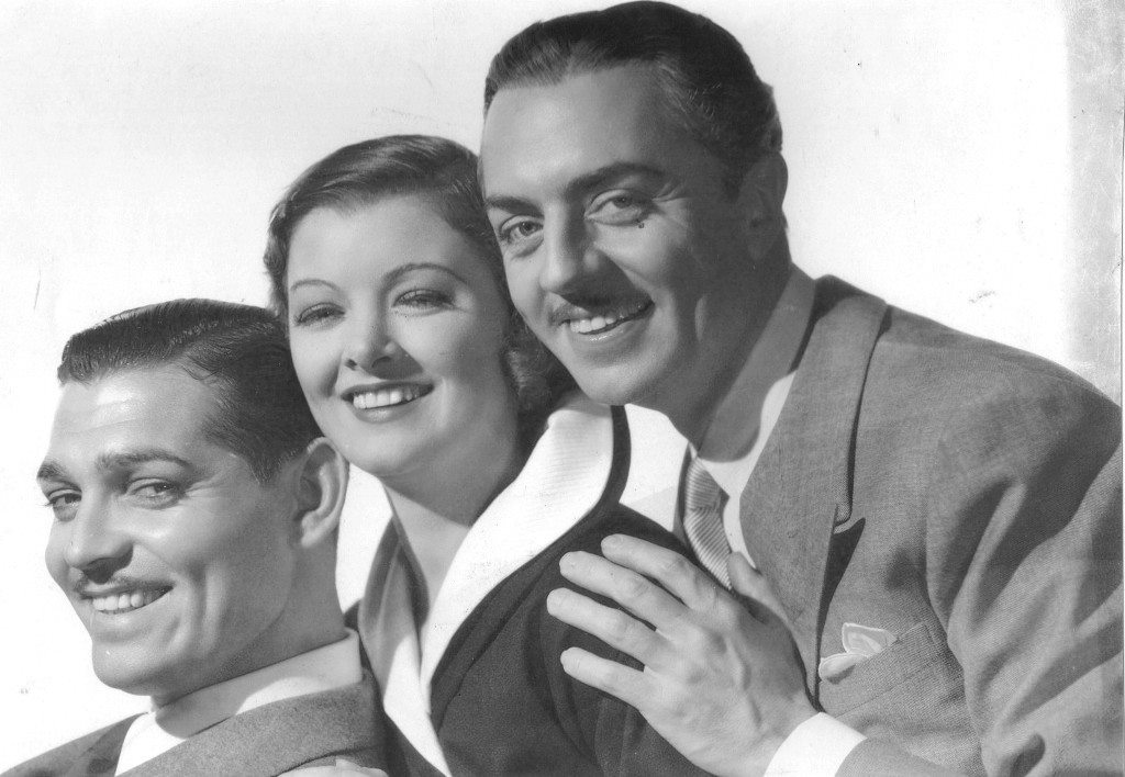 Clark Gable, Myrna Loy & William Powell - Manhattan Melodrama, 1934/publicity still