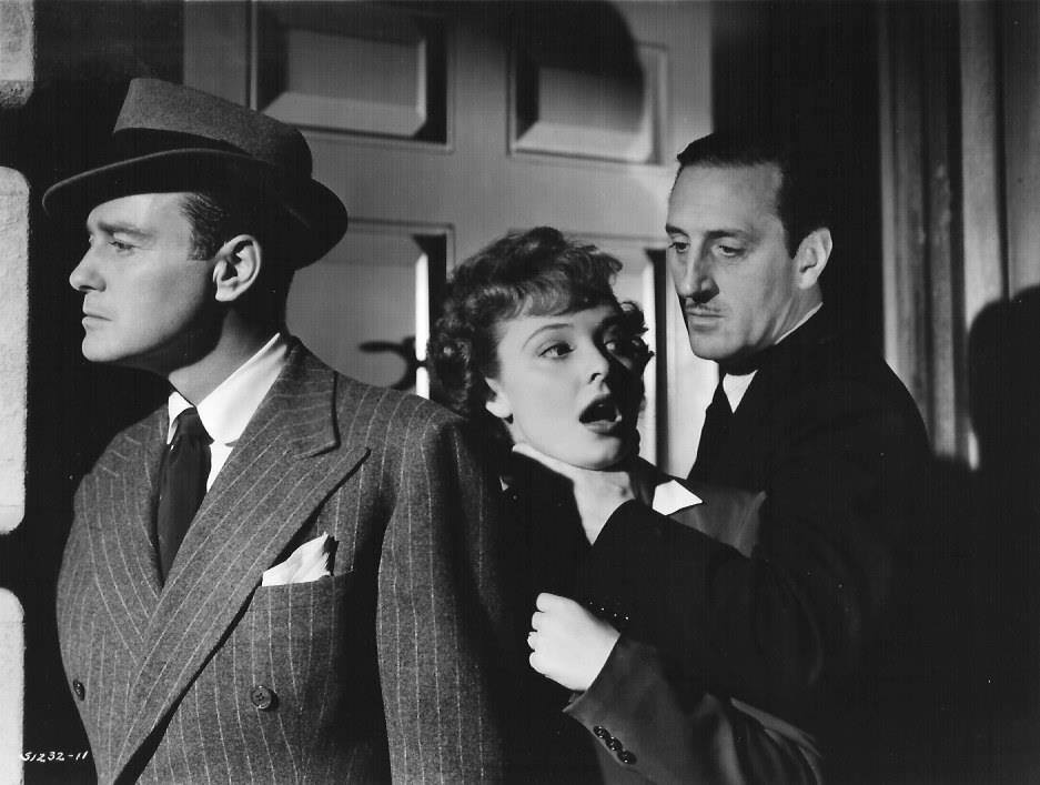 Lew Ayres, Laraine Day & Basil Rathbone-Fingers at the Window, 1942