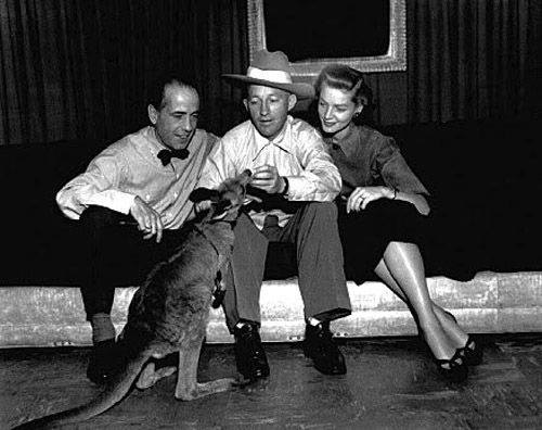 Bing with Humphrey Bogart, Lauren Bacall...and a kangaroo...