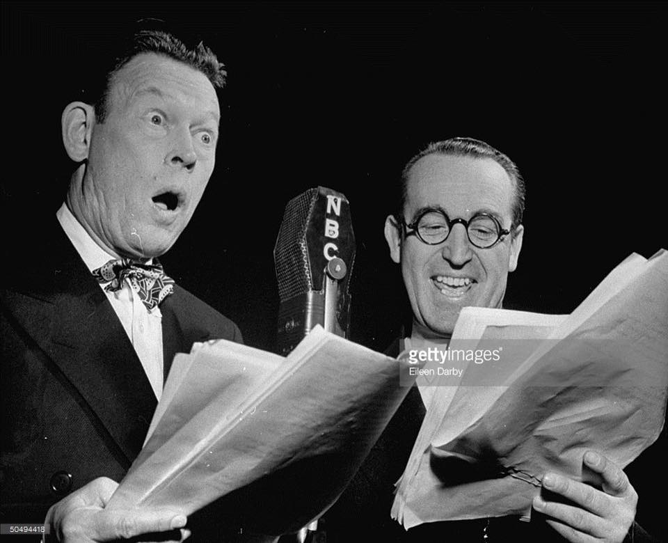 Fred Allen Friday! Fred working with Harold Lloyd........