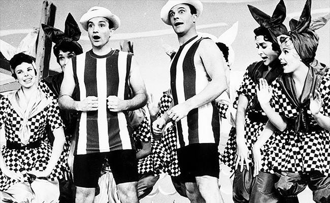 Gene Kelly and his younger brother Fred Kelly appeared together in a dancing vaudeville act. When Gene got his big break as Harry the hoofer in the dramatic Broadway production of