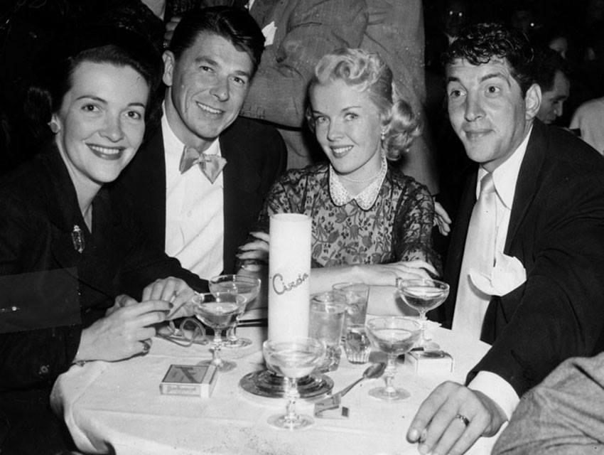 Dean Martin ,Jeanne Biegger, Ronald Reagan and Nancy Reagan.