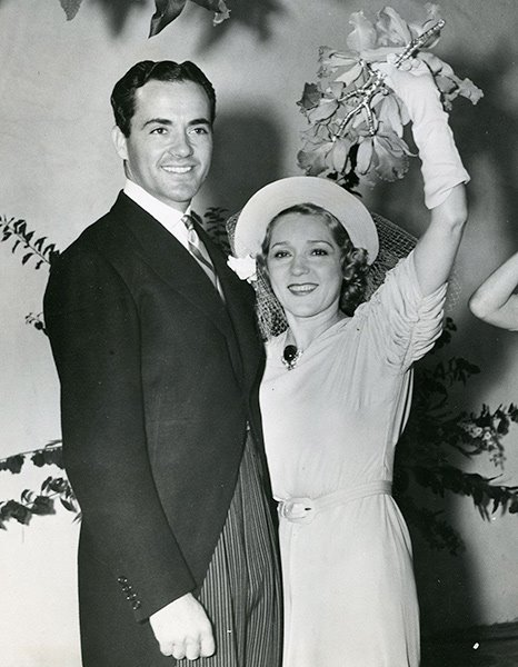 Charles Buddy Rogers and Mary Pickford on their wedding day, June 24, 1937