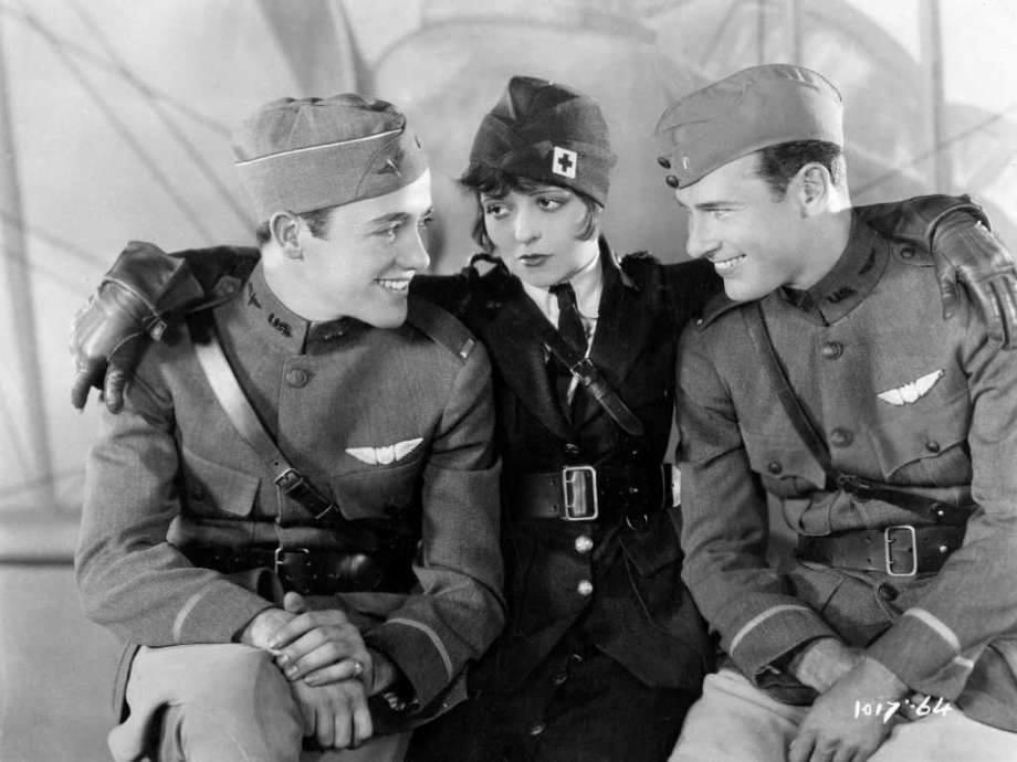 Charles  Buddy Rogers , Clara Bow & Richard Arlen - Wings, 1927
