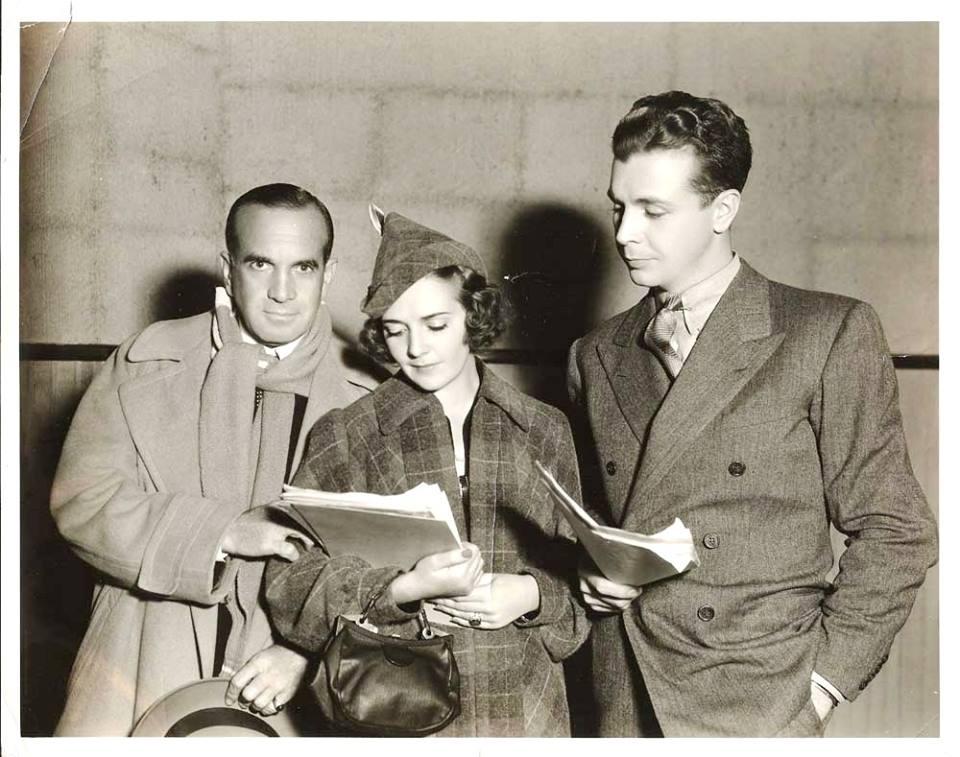 Al Jolson (Ruby's husband), birthday girl Ruby Keeler, and Dick Powell