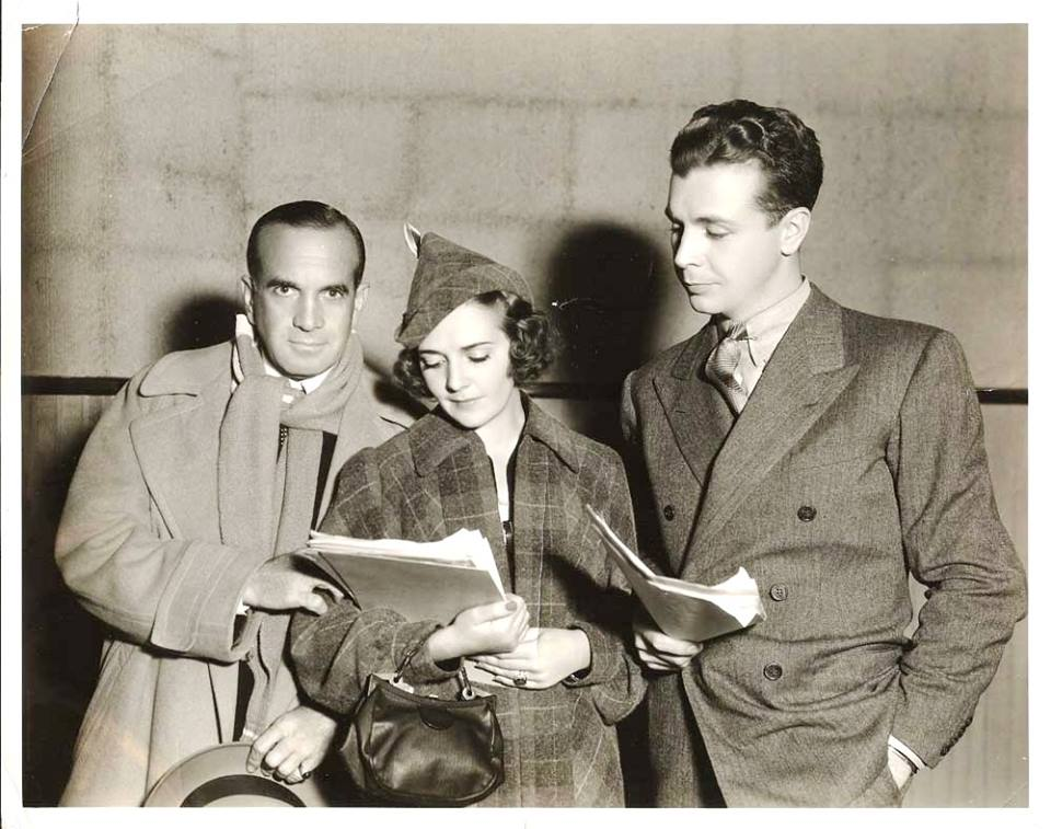 Al Jolson (Ruby's husband), birthday girl Ruby Keeler, and Dick Powell