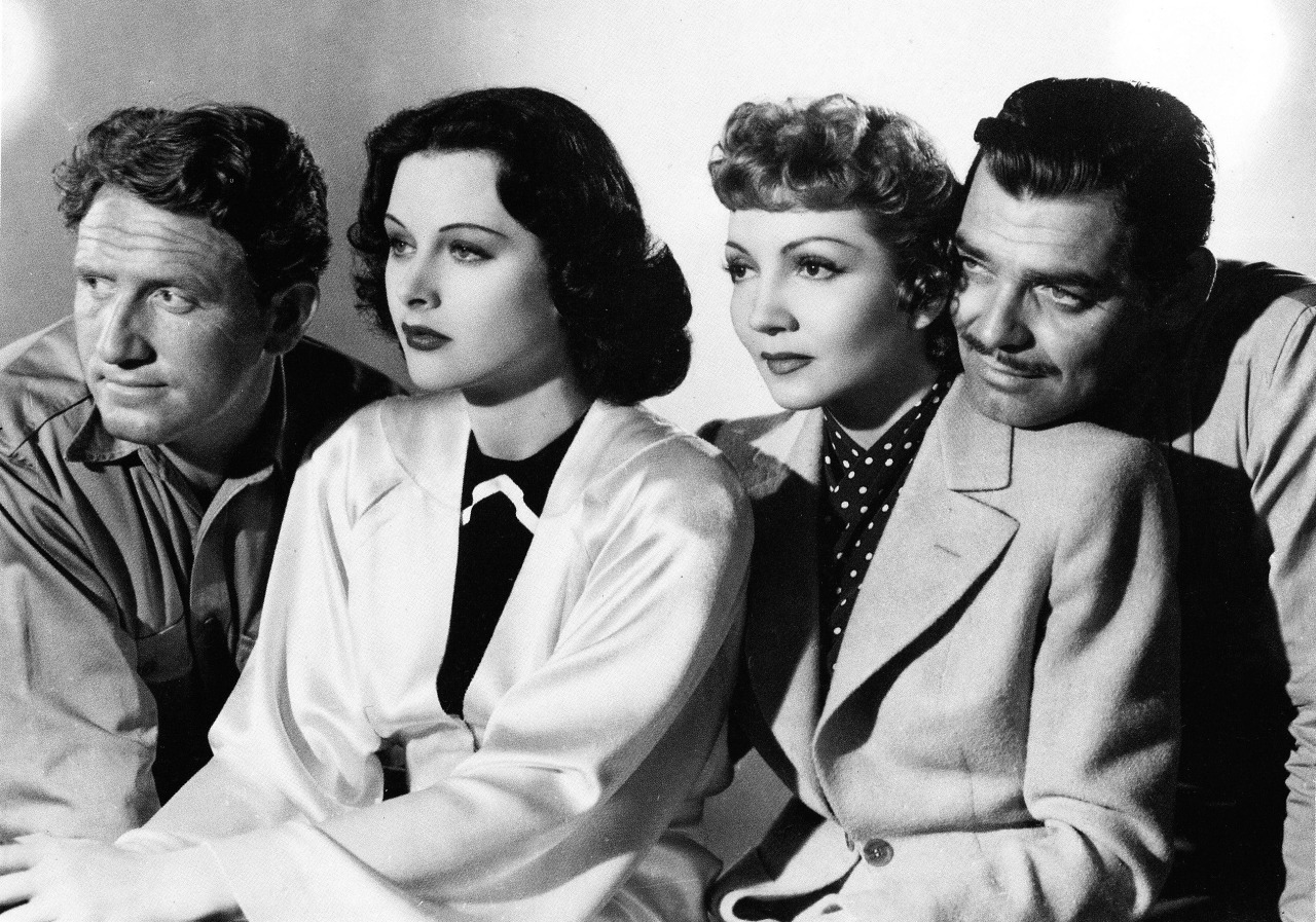 Spencer Tracy,Hedy Lamarr,Claudette Colbert & Clark Gable -Boom Town(1940).