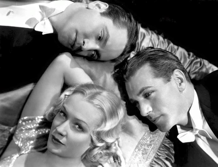 Fredric March,Miriam Hopkins & Gary Cooper -Design for Living(1933).