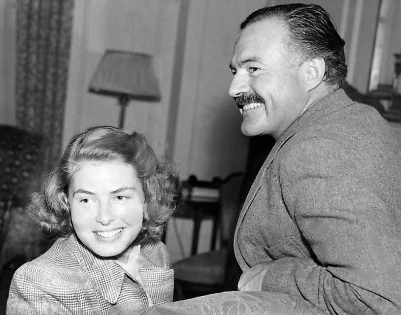 Ingrid Bergman with Ernest Hemingway.
