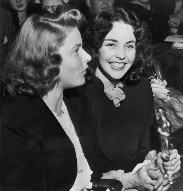 Jennifer Jones with her close friend Ingrid Bergman.