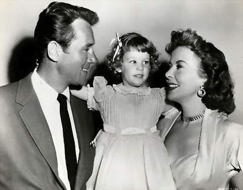 Ida Lupino with her husband Howard Duff and their daughter.