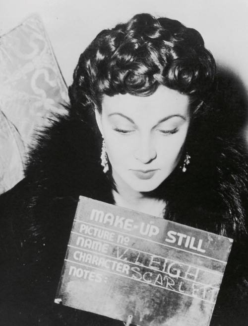 Vivien Leigh in a make-up still for Gone With The Wind (1939)
