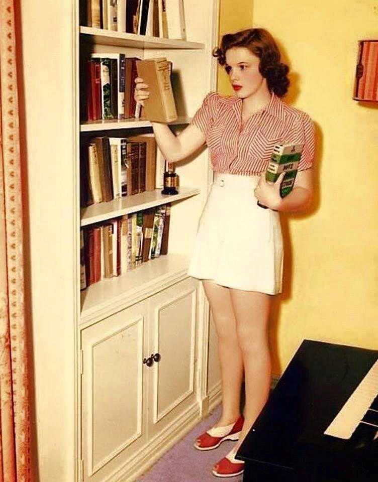 Judy Garland at Home ~1940s.