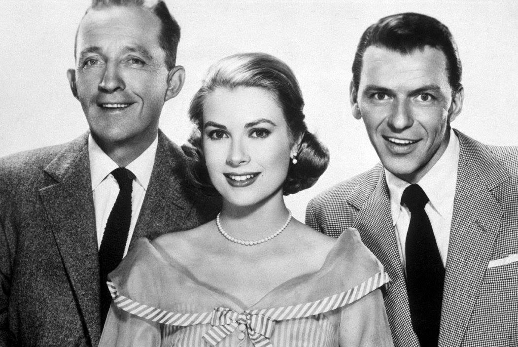 Grace Kelly, Bing Crosby and Frank Sinatra