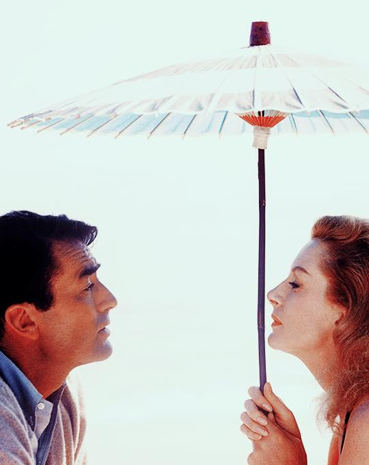 Gregory Peck and Deborah Kerr photographed by Bob Willoughby during the making of Beloved Infidel (1959)
