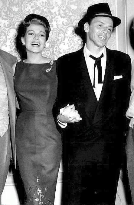 Rita Hayworth & Frank Sinatra on the set of Pal Joey -1957.