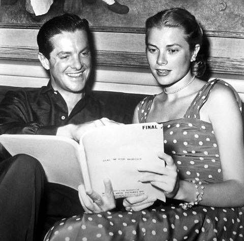 Grace Kelly and Robert Cummings read the script of