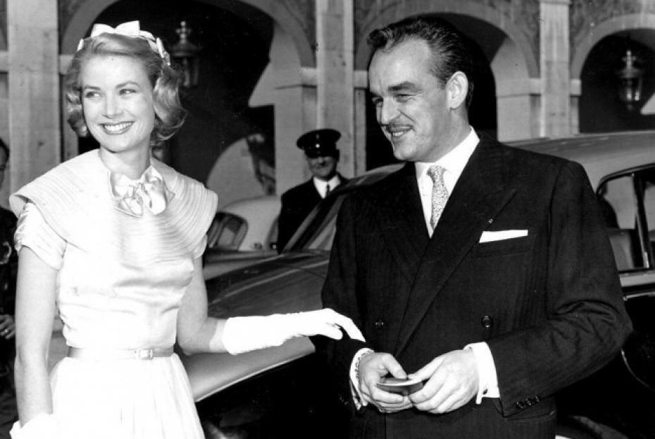 Grace Kelly and her husband, Prince Rainier III of Monaco.