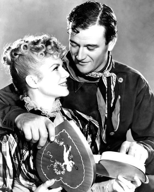 John Wayne e Claire Trevor