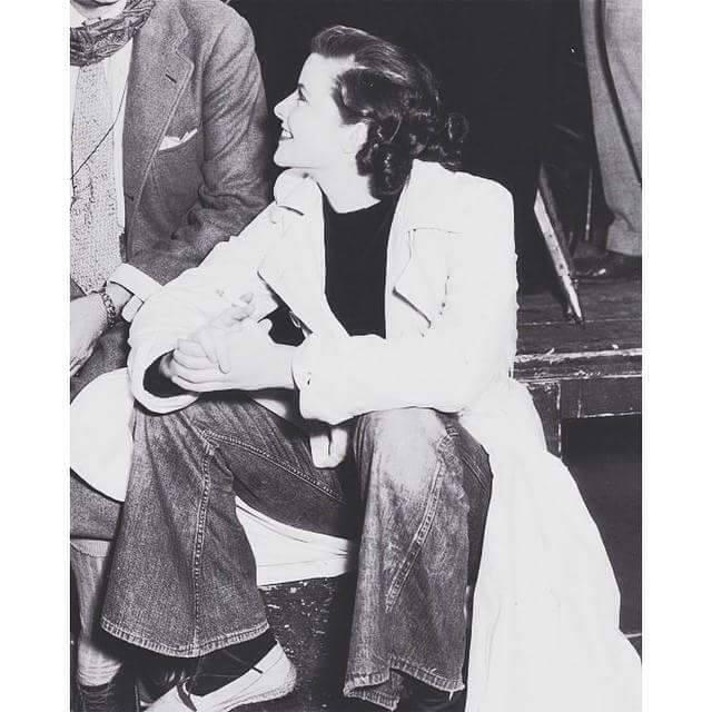Katharine Hepburn on the set of The Lake(play) -1934.