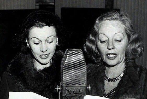 Vivien Leigh & Tallulah Bankhead at Radio -1951.