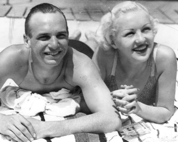 Jackie Coogan and  Betty Grable